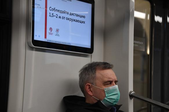 Более 1 тыс. москвичей ежедневно штрафуют заотсутствие масок вобщественном транспорте